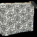 Trousse en coton motif jasmin 15x24 cm-Jasmin