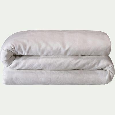Housse de couette en lin - blanc capelan 240x220cm-VENCE