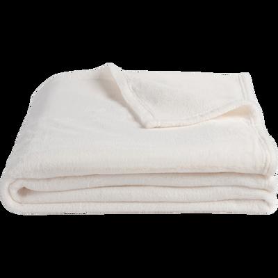 Plaid doux blanc ventoux 130x170cm-ROBIN