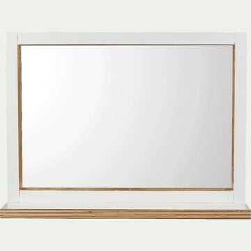 Miroir - blanc L74xH54cm-MUGEL