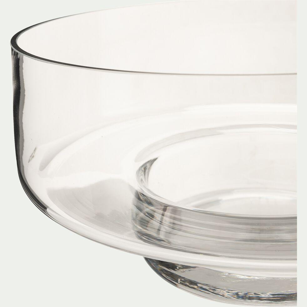 Coupe décorative en verre - transparent D25,5xH12cm-PITTOSPORUM