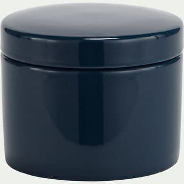 Pot à coton en grès - bleu myrte H11cm-PROSPER