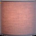 Abat-jour cylindrique en tissu gris H15cm-COLORAMA