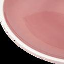 Assiette à dessert en faïence rose D22cm-CAMELIA