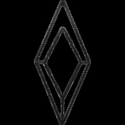 Patère en métal noir 1 emplacement L14xl5xH30cm-PACHA