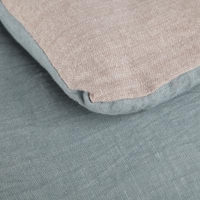 Edredon en lin et coton bleu clair 180x100cm-ELINA
