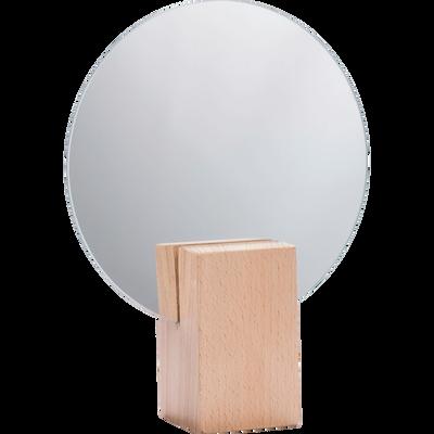 Miroir rond en bois D18cm-SOLSTICE