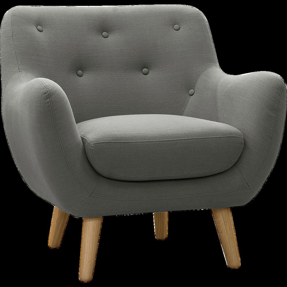 fauteuil esprit scandinave gris clair poppy fauteuils et poufs alinea. Black Bedroom Furniture Sets. Home Design Ideas