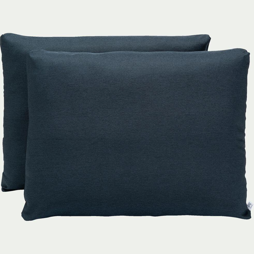 Lot de 2 housses bleu figuerolles pour lit Constance taille 140-CONSTANCE