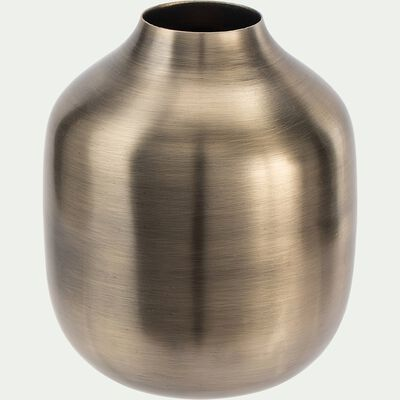 Vase rond en fer - doré D11xH13cm-AZEFFOUN