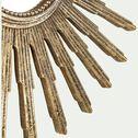 Miroir soleil en résine patinée - doré D30cm-ADEODAT