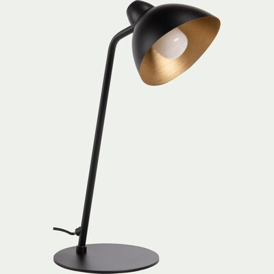 Lampe à poser orientable en métal noir et doré-JAYDA