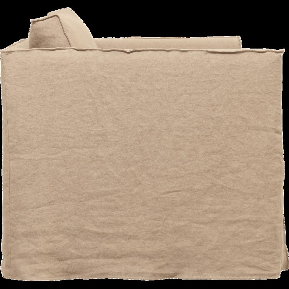Canapé 1.5 places fixe en lin beige roucas-VENCE