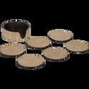 Lot de 6 dessous de verres en bois laqué-Renua