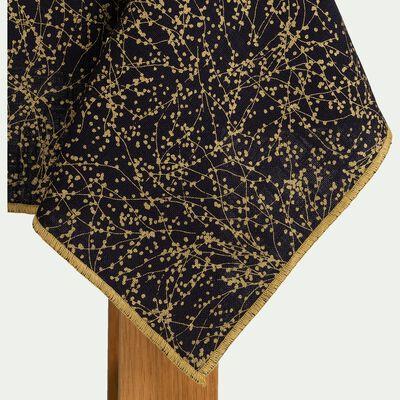 Nappe en coton bleu calabrun 170x250cm-GINKO