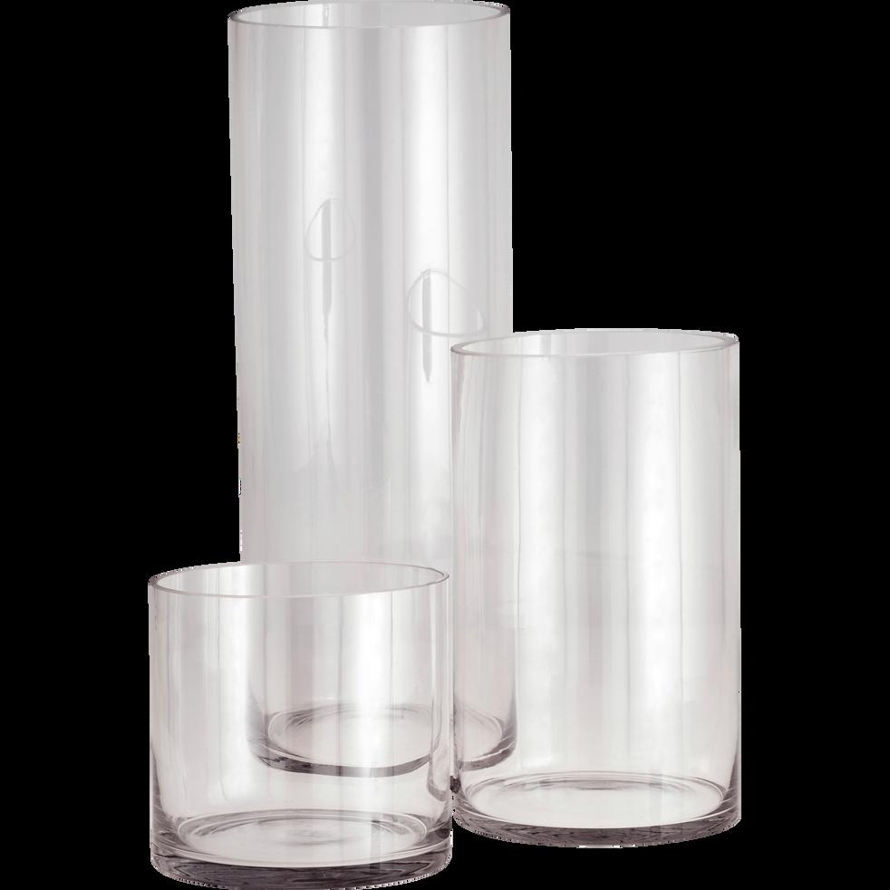 Vase Verre Transparent : vase en verre transparent h50cm sabbia catalogue storefront alin a alinea ~ Teatrodelosmanantiales.com Idées de Décoration