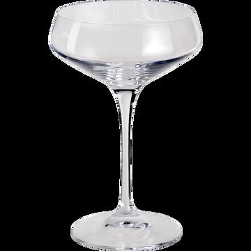 Coupe de champagne en verre transparent 33cl-ARIA