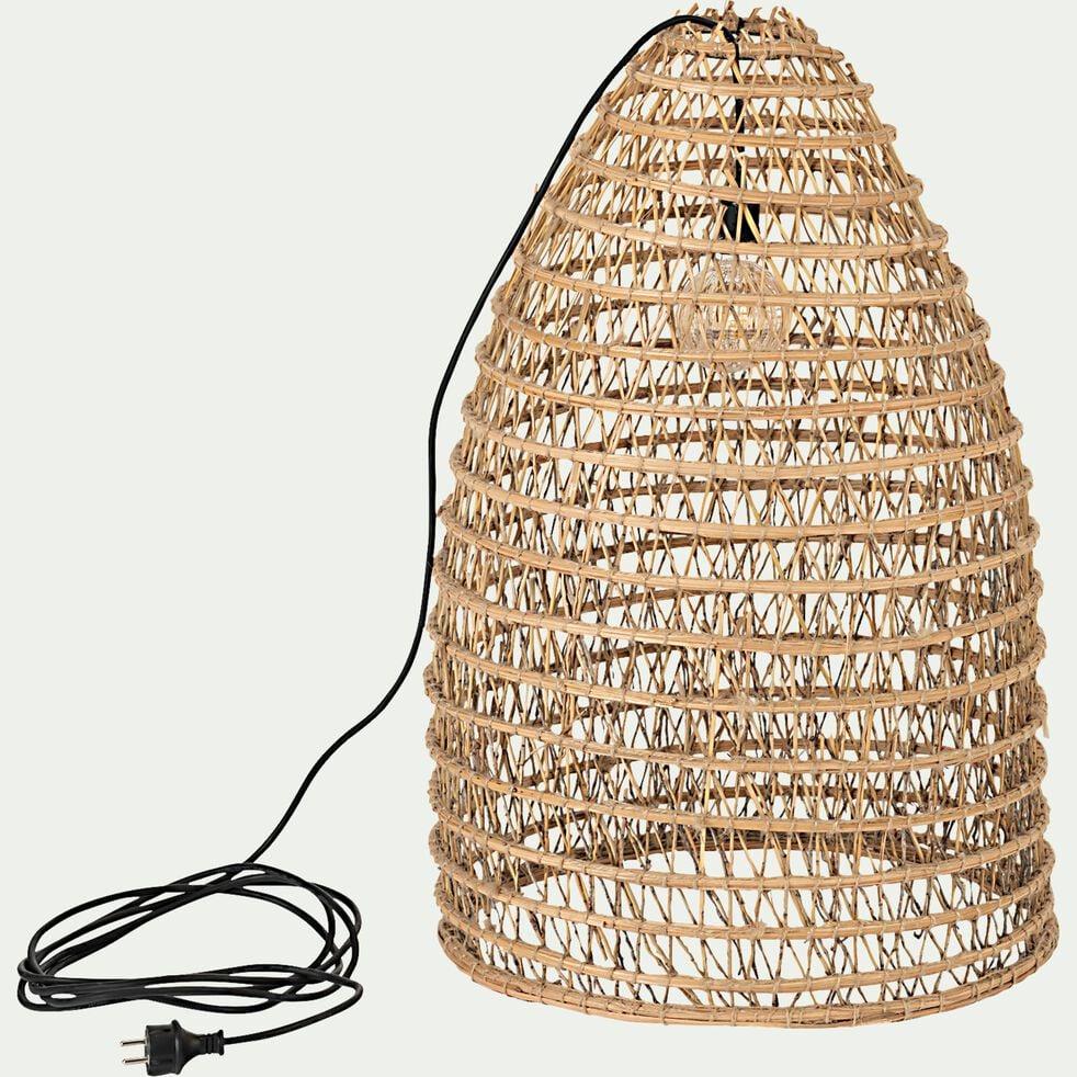 Suspension extérieure/lampe à poser en fibre de palmier D45xH80cm-ORIA