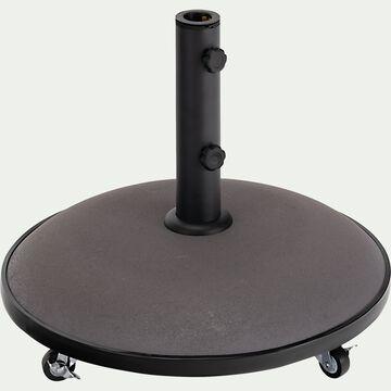 Pied de parasol en béton 25kg avec roulette - gris-AUGUSTO