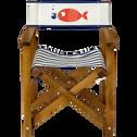Chaise de casting pliable pour enfant motif marinière-MAYA