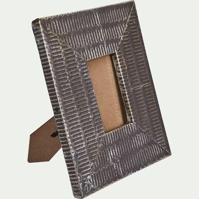 Cadre photo en métal - gris 8x13cm-ELA