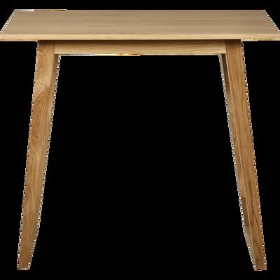 Table haute rectangulaire plaquée chêne - L115cm-KATELLE