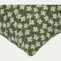 Coussin motif Figuier en coton - vert 40x40cm-FIGUIER