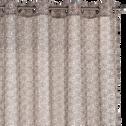 Voilage à oeillets coloris naturel et bleu foncé 140x250cm-JASMIN