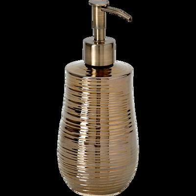 Distributeur de savon céramique dorée métallisée-MATHYS