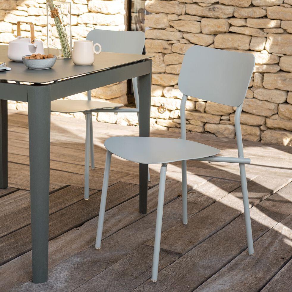 Chaise de jardin en aluminium - vert olivier-Matias