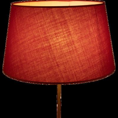 Abat-jour tambour rouge arbouse-MISTRAL