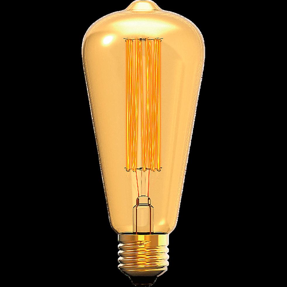Ampoule décorative incandescente H13,1cm culot E27-AMPOULE POI