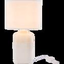 Lampe à poser en céramique blanche H47xD26cm-LAP