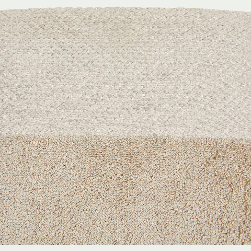 Drap de douche en coton peigné - beige alpilles 70x140cm-AZUR