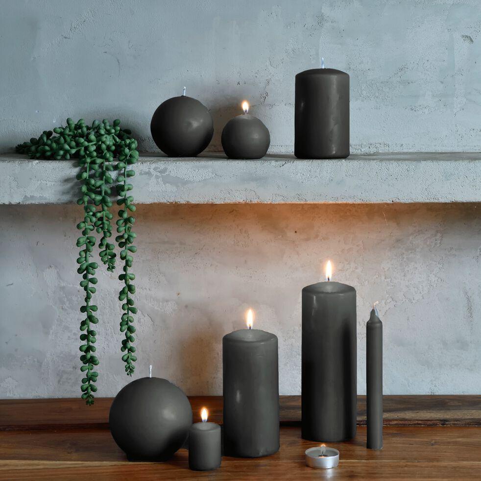 Lot de 8 bougies flambeaux - vert cèdre H18cm-HALBA