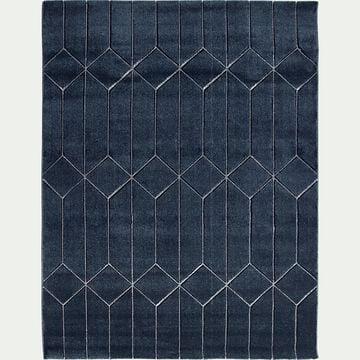 Tapis à motifs géométriques - bleu 160x230cm-ORPHEE