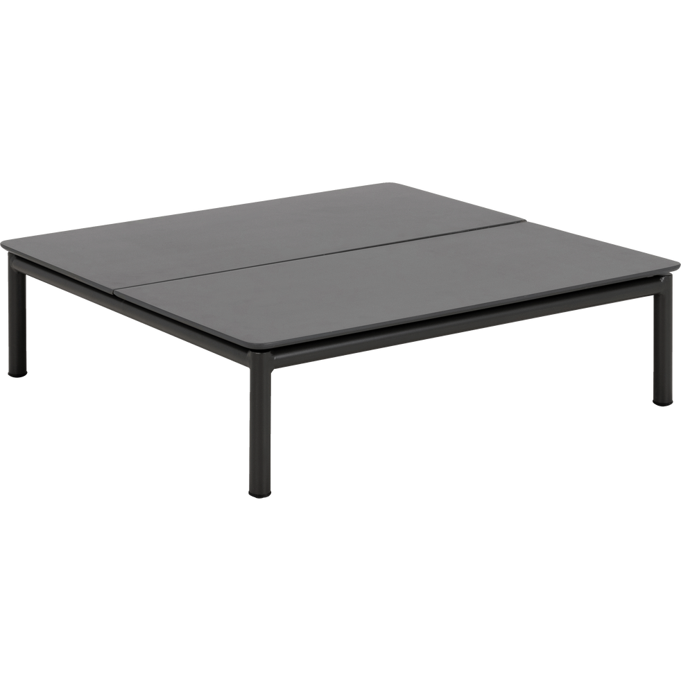 ALEX - Table basse de jardin en aluminium gris anthracite