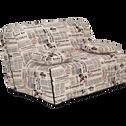 Housse pour clic-clac motif journal L130cm-NEWSPAPER