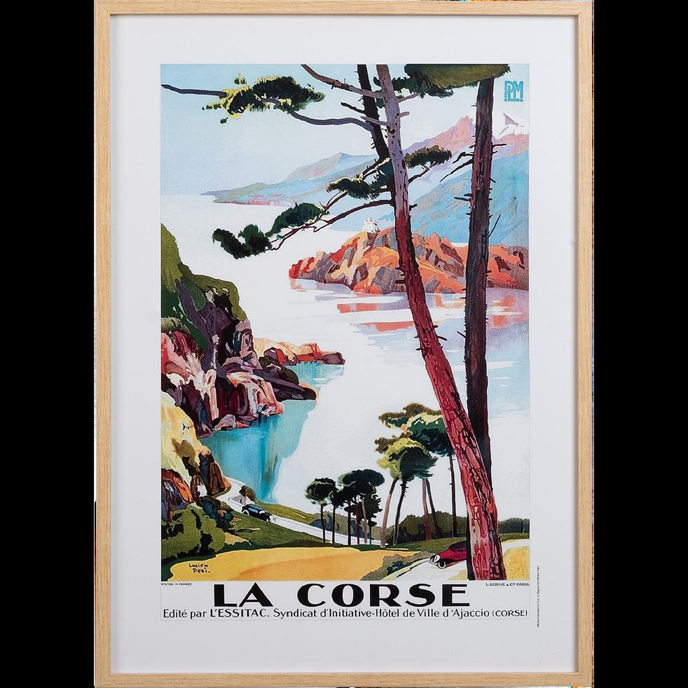 Image encadrée paysage corse 53x73cm-PLM CORSE