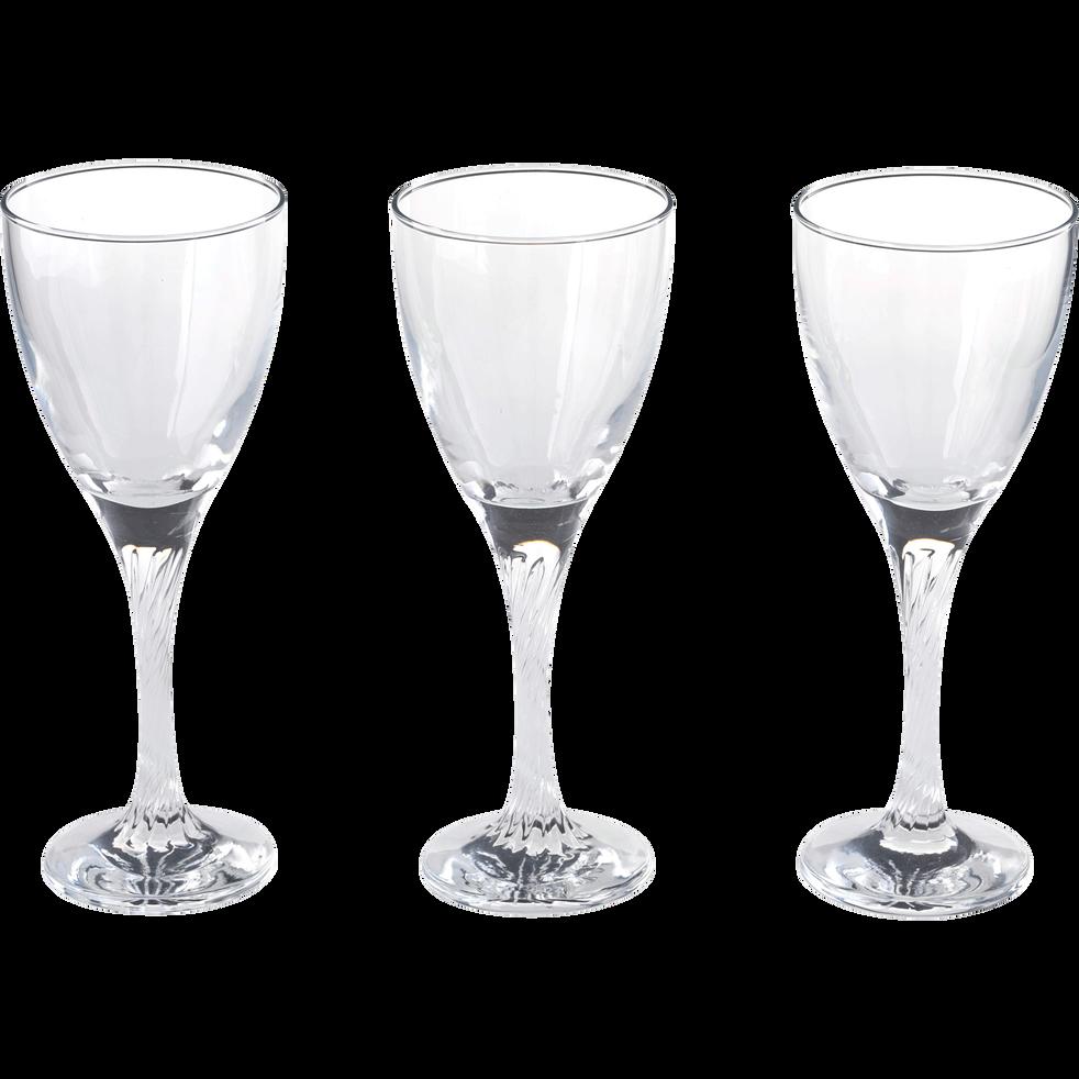 Lot de 3 verres à eau en verre 22cl-TWIST