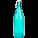 Bouteille bleue forme limonade 1L-Stéphane