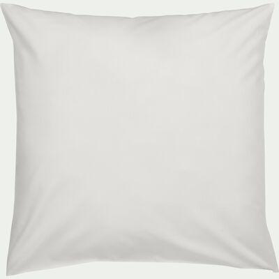 Lot de 2 taies d'oreiller en coton - blanc capelan 65x65cm-CALANQUES