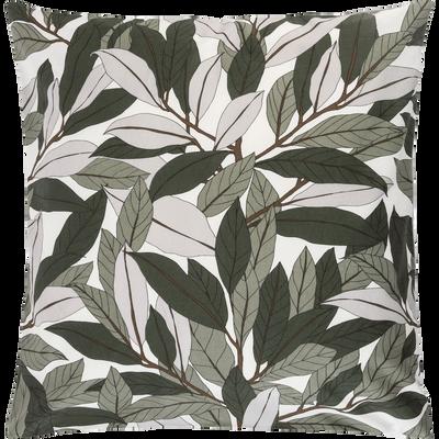 Lot de 2 taies d'oreiller en coton motif Laurier - carré 63x63 cm-SARA