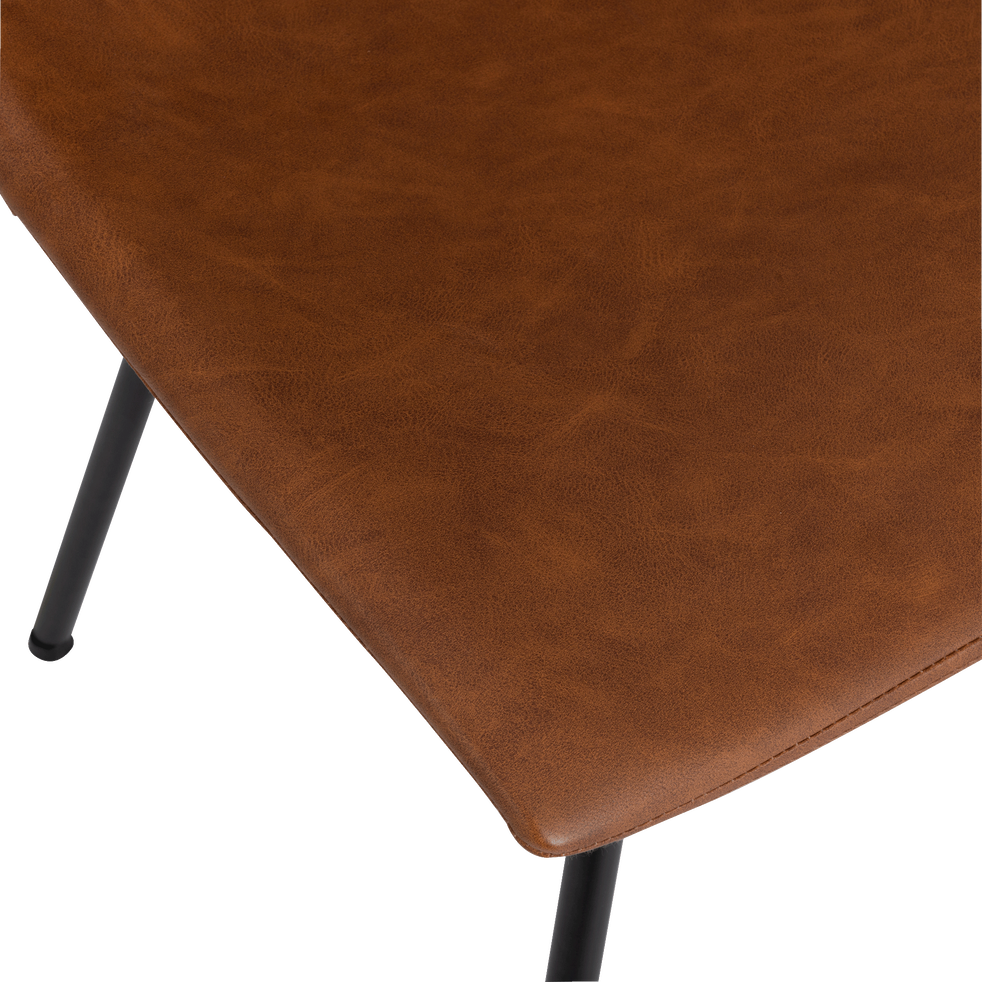 Chaise vintage marron-BERANGERE