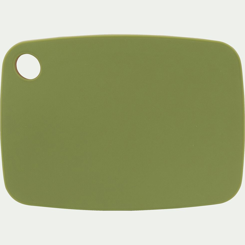 Planche à découper bi-matière en bambou verte 25x18cm-RIOU