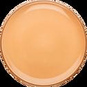 Assiette plate en faïence beige nèfle D27cm-LANKA