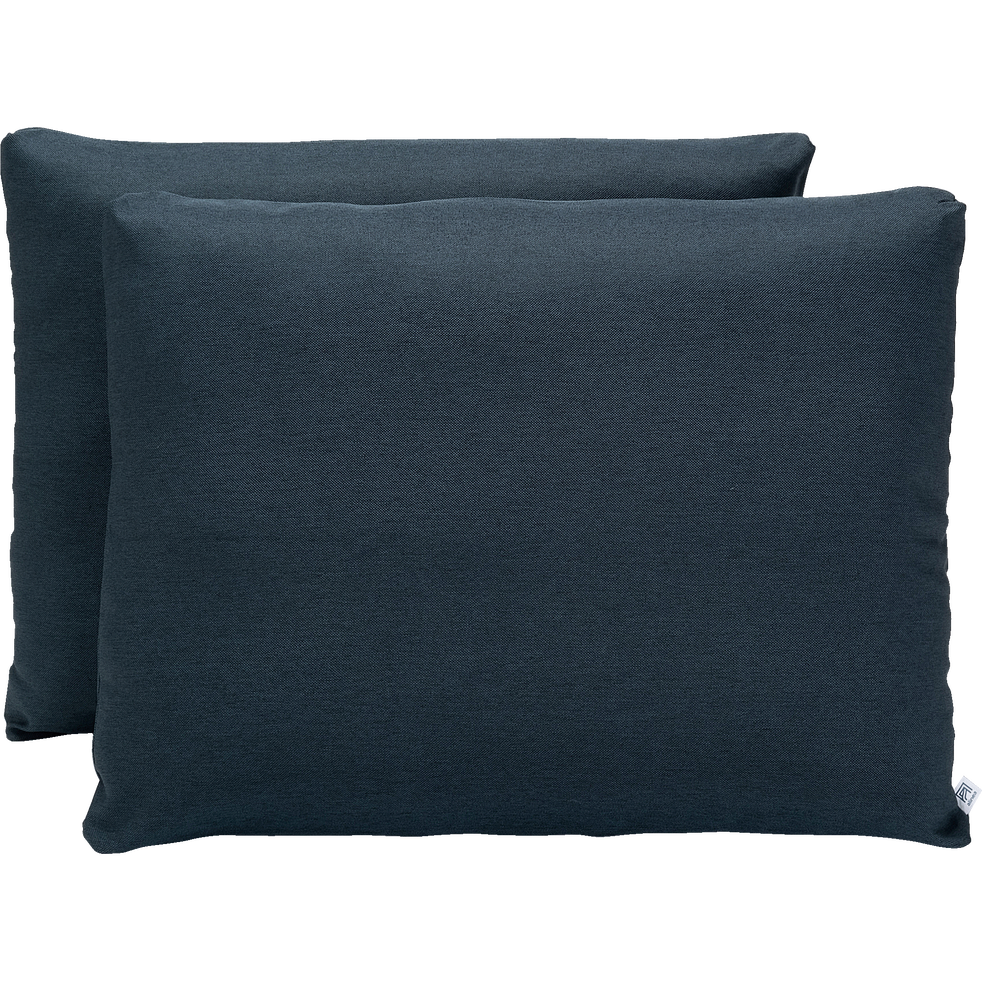 Lot de 2 housses bleu figuerolles pour lit Constance taille 160-CONSTANCE