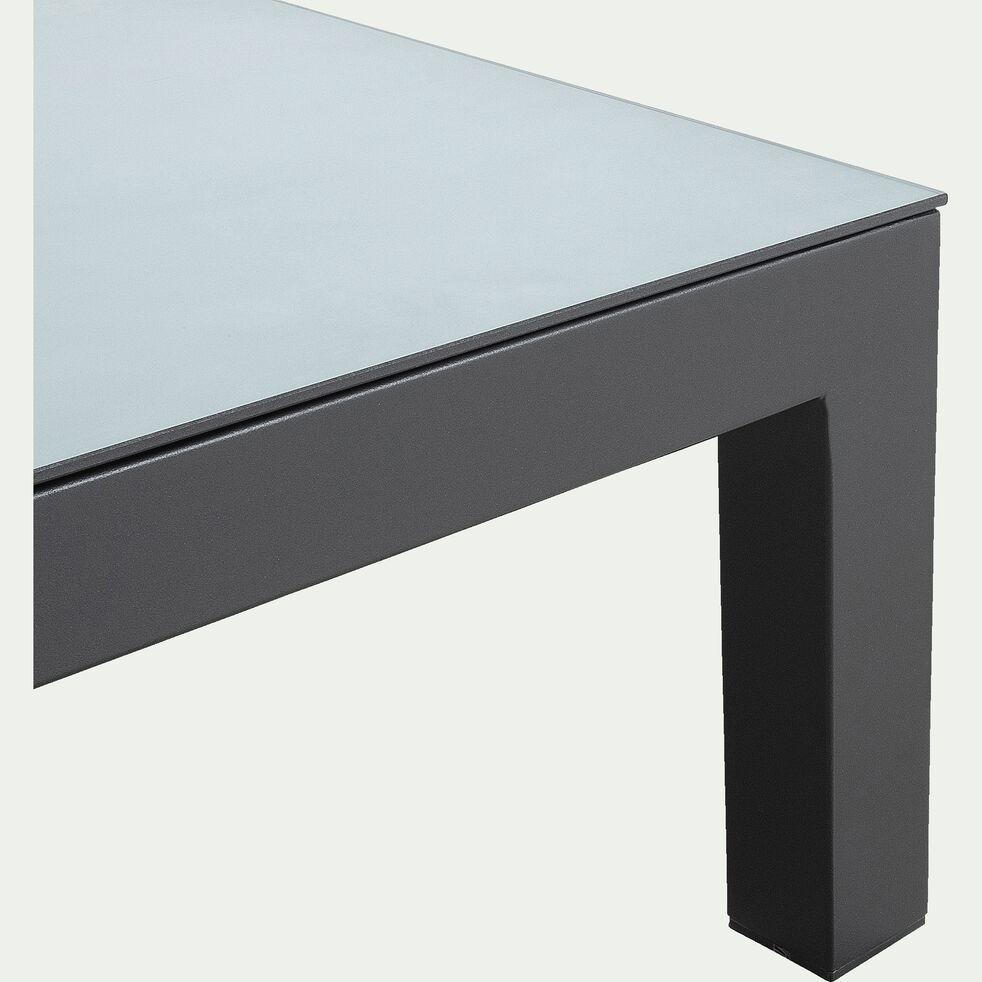 Salon de jardin d'angle en alu - gris (4 à 6 places)-SIROCCO