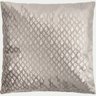 Coussin argenté à motifs 45x45cm-HERITAGE