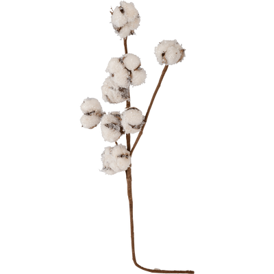 Branche avec 9 boules de coton H60 cm-KELIBIA